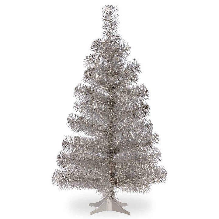 National Tree Co National Tree Co 3 Foot Silver Tinsel Christmas Tree Silver Tinsel Christmas Tree Tinsel Tree Tinsel Christmas Tree