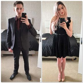 Being me and myself! I may love looking pretty but I do love a good suit! - - - #genderfluid #genderqueer #lgbtq #transformationtuesday #boytogirltransformation #tgirl #crossdresser #transvestite #pride #maletofemale #makeover