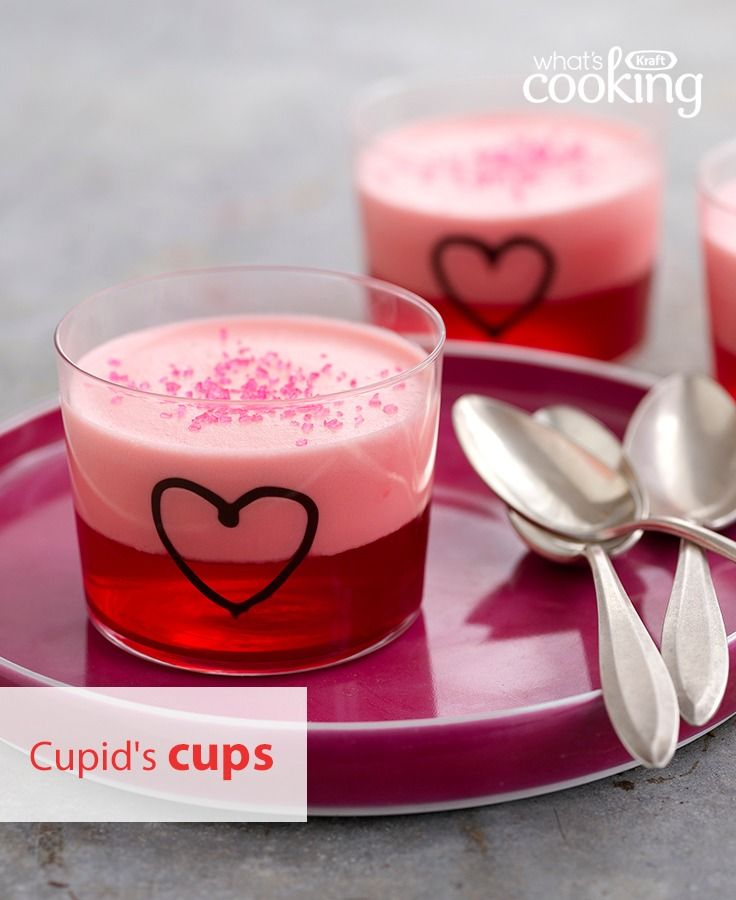 Keep it sweet and simple this Valentine's Day with these strawberry-flavoured dessert cups. Tap or click photo for this Cupid's Cups #recipe.