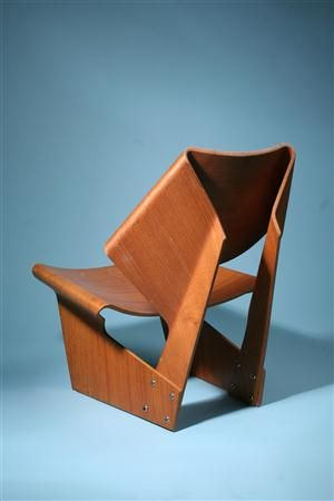 Grete Jalk GJ chair, c. 1960, teak plywood (2 pcs)