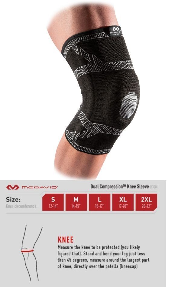 Orthotics Braces and Sleeves: Mcdavid Elite Engineered Elastic™ Knee Sleeve W/Gel Buttress And Stays Size Medium BUY IT NOW ONLY: $37.49