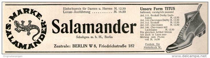 Original-Werbung/Inserat/ Anzeige 1911 -  SALAMANDER SCHUHE - ca. 55  x 180