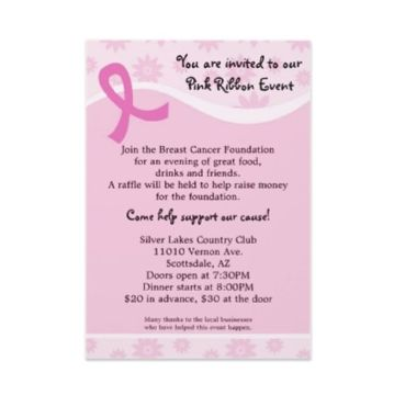 14 best Pink fundraiser images on Pinterest Breast cancer - fundraiser invitation