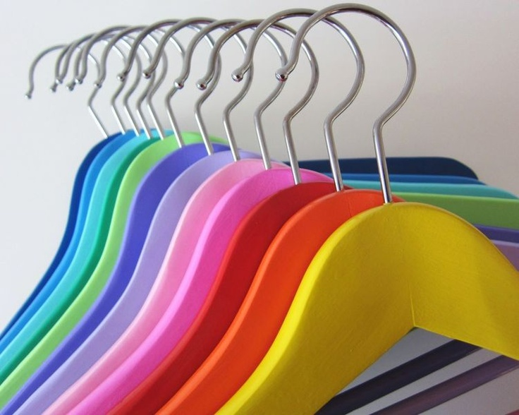 clothes hanger #rainbow #color