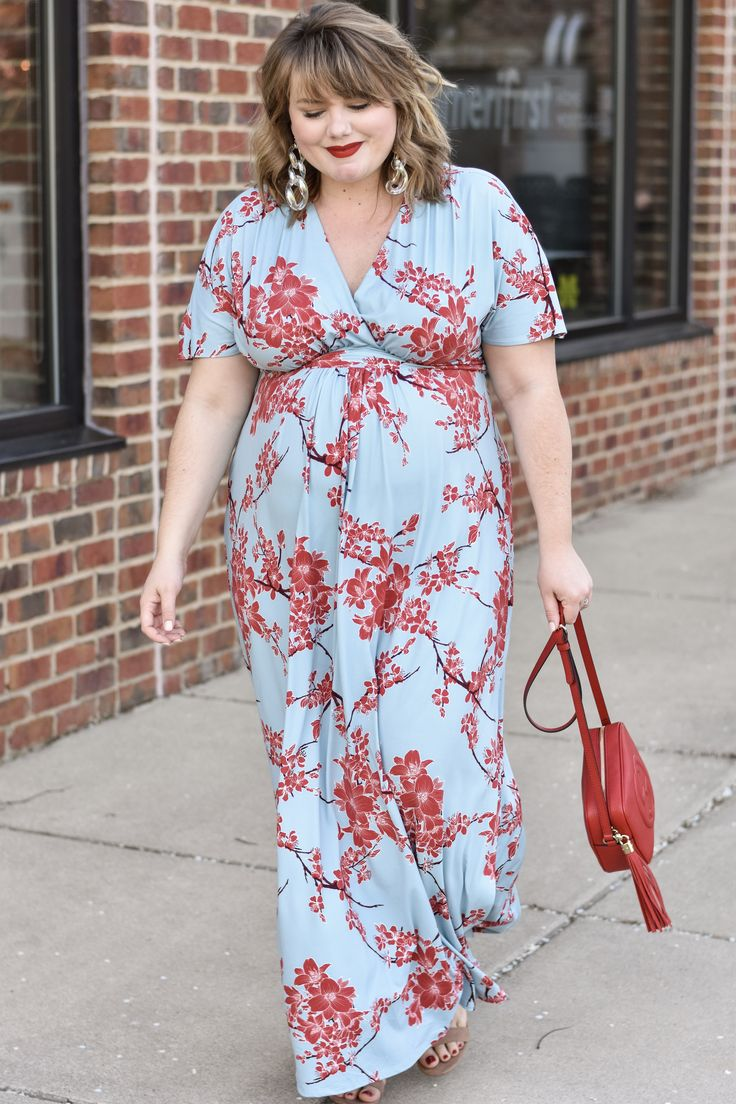 Kiyonna Maxi Dress : The Cherry Blossom Edit – Curls and Contours