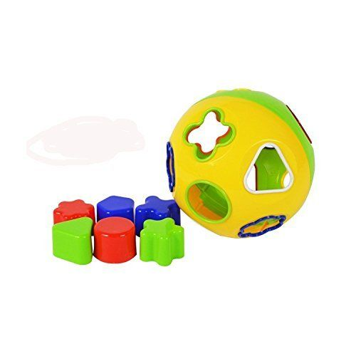 From 5.29:Rohans Shape Sorter Geometric Toy Blocks Sorting Colourful Round Ball