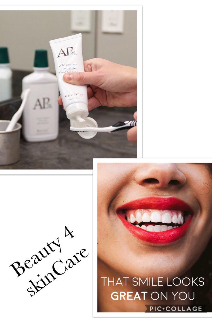 Ønsker du lysere tænder, 🤗🤗 så skal du prøve vores Ap-24 Whitening. Den indholder ingen skadelige brintoverilte eller plastik, den hjælper også på pletter og huller #nuskin#beauty4skincare#selvstændig#