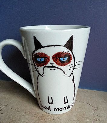 Custom Coffee Mug. Grumpy Mornings. by LoveItGetItGotIt on Etsy, $13.50