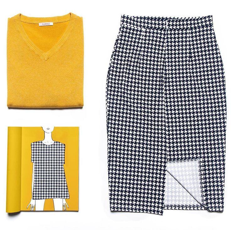 На нашем сайте gardbe.ru есть всё чтобы создать идеальный образ в том числе и для офиса: горчичный свитер и юбка в гусиную лапку - наш выбор для начала рабочей недели!  #gardbe #одеждапоподписке #russiandesigner