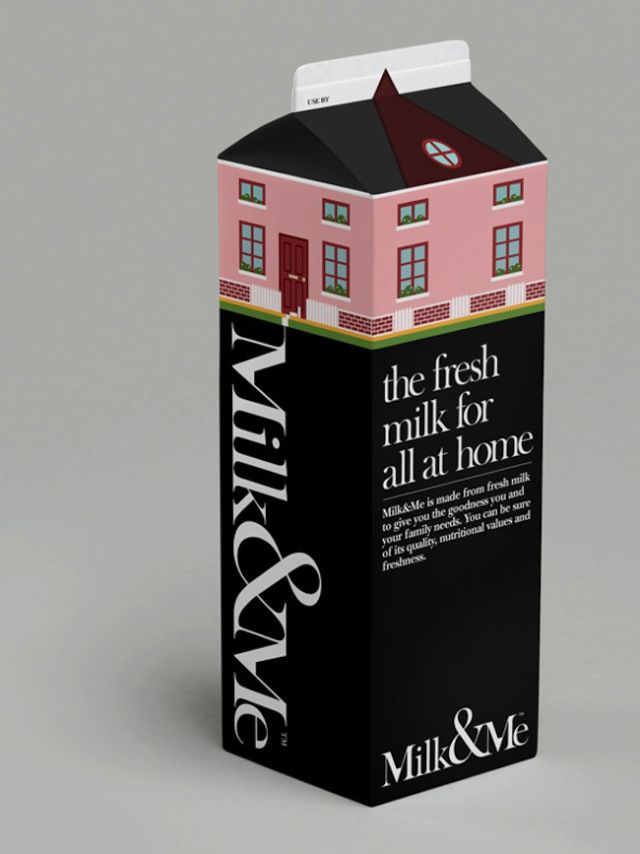 Clever, wonderful milk packaging with a good message by A Beautiful Design