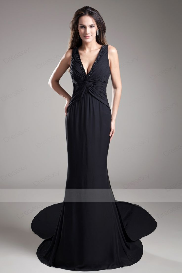 New Trumpet / Mermaid Ruffles Chiffon Evening Dresses