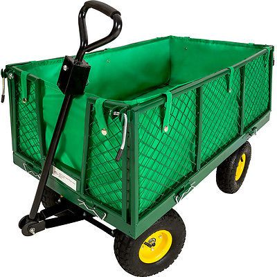 Heavy duty wheelbarrow #garden mesh cart trolley #utility cart #tipper dump 4 whe,  View more on the LINK: http://www.zeppy.io/product/gb/2/281614540542/