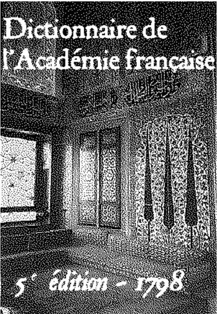 Dictionnaire de L'Académie française - 5ème édition pdf gratuit - FrenchPdf - Télécharger des livres pdf