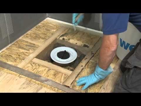 wedi | FR - Training : Installer une douche à l'italienne Fundo Ligno sur un plancher de bois