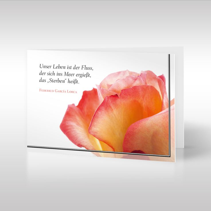 """Die Trauerkarte """"Blüte im Trauerkleid"""" ist unsere elegante Lösung den Trauernden zur Seite zu stehen, und den verblichenen die letzte Ehre zu erweisen. https://www.design-trauerkarten.de/produkt/bluete-im-trauerkleid/"""