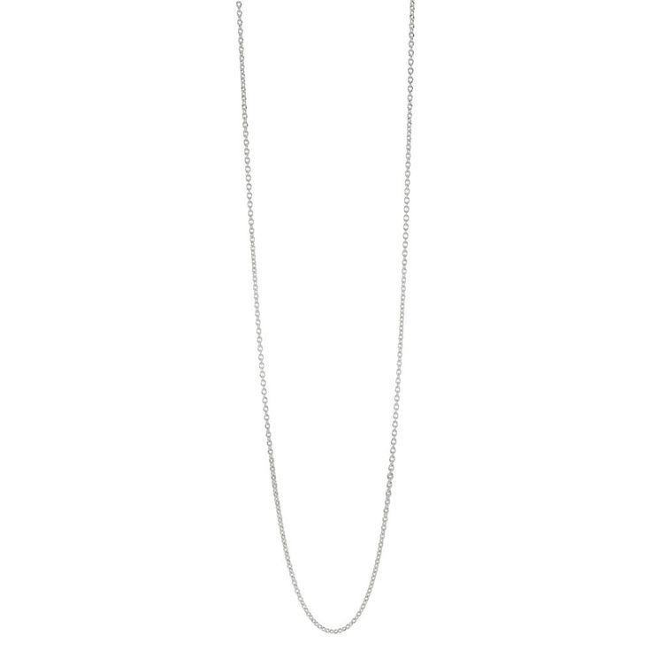 Fin enkel halskæde i sølv str 60 cm, Her fra Pandora