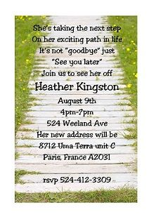 going away party invitations could use for retirement also - Goodbye Party Invitation
