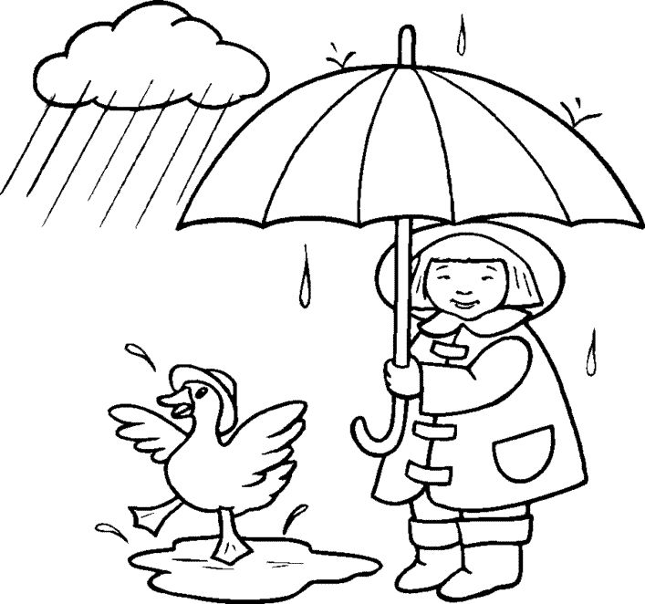 Coloring Pages Of Rain