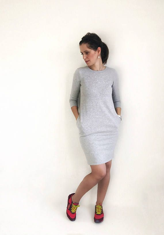 *** Sweatshirt Dress ***  My long sweatshirt dress is casual, comfortable and also stylish. It has 2 practical side pockets and half - sleeves, you can wear it in Summer but also in winter with leggings or as your imagination leads you. My sweater dress is absolutely adorable and makes the perfect addition to any wardrobe of all the fashionistas, perfect for different events, you will love it!  This Listing is only for the Woman Dress, if you also want the matching dress for your daughter…