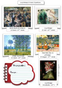 Fiches de peintures célèbres sur le printemps