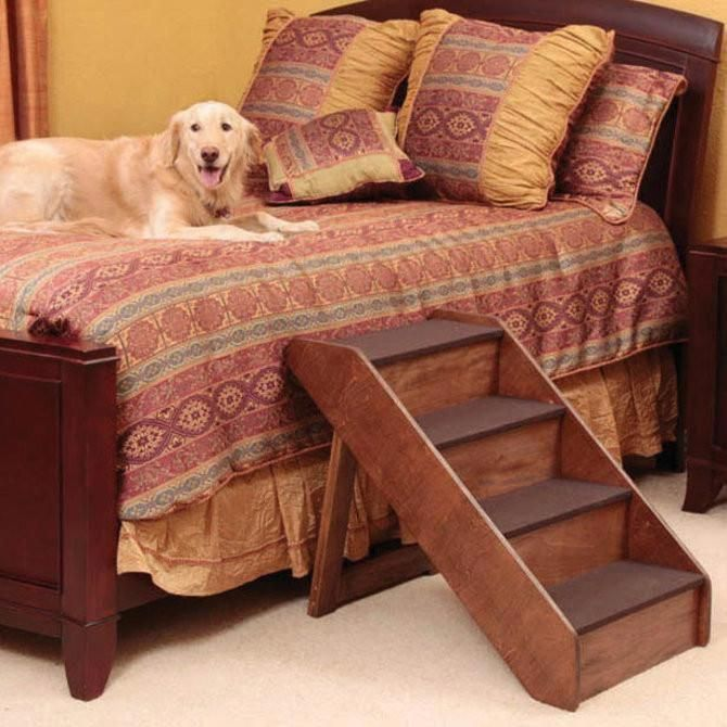 Foldable Wood Pet Steps Dog Stairs For Bed Dog Stairs Pet Stairs