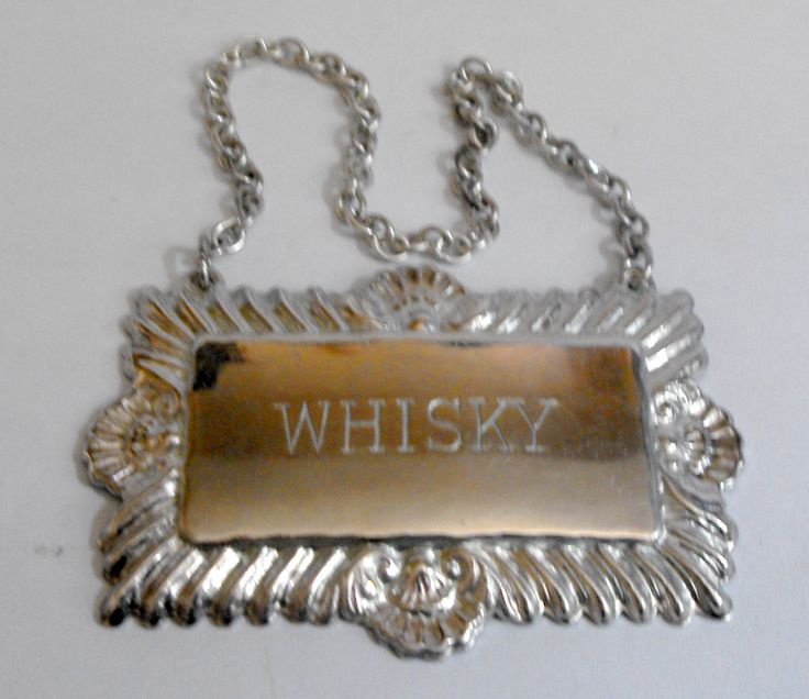11380 £16 inc UK Post. Offers welcome. Silver plated whisky bottle or decanter label