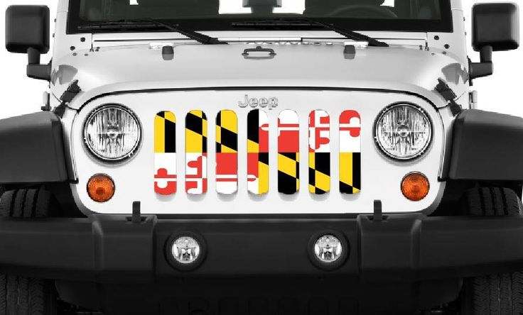 """""""Maryland Flag"""" Jeep Grille Insert By Dirty Acres ('76-'17 Wrangler CJ – Jeep World"""