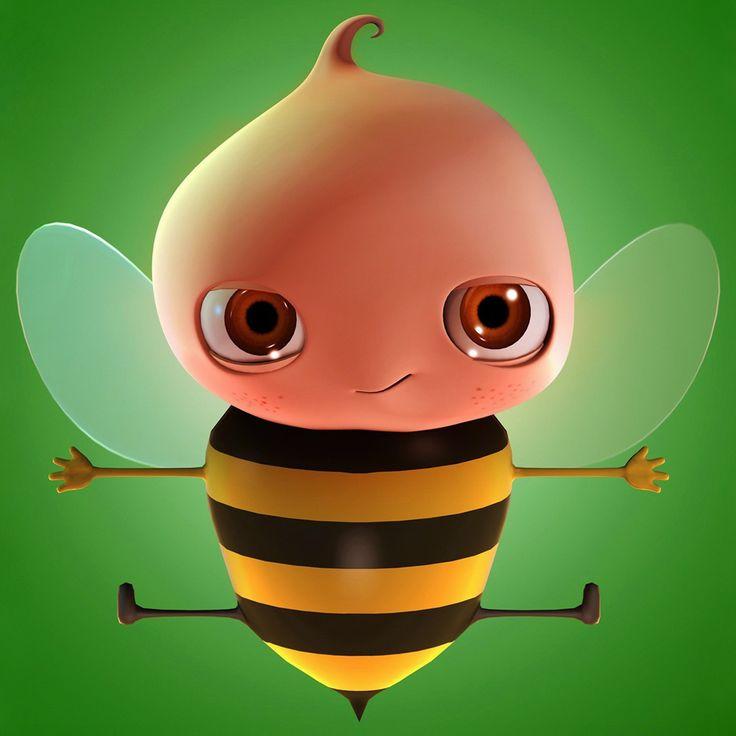Funny Cartoon Bee Wallpaper 1024x1024   Cartoon bee, Funny ...