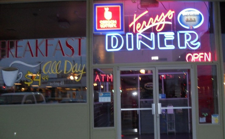 "Terry's Diner is filled with antiques to bring back memories of the ""good old days."""