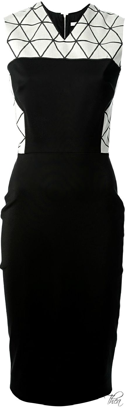 Victoria Beckham ● Black Triangle Panel Dress