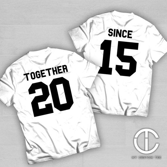 Together Since Set of 2 Couples Couple Set  Anniversary Gift