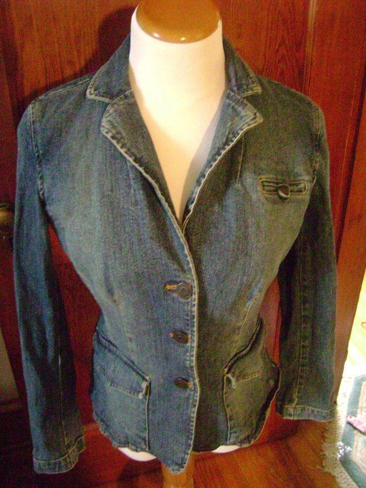 New York & Company Denim Jacket Juniors Size 2 Double Pockets  #NewYorkCompany #DenimJacket