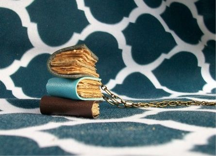 book necklace by malmow on craftster