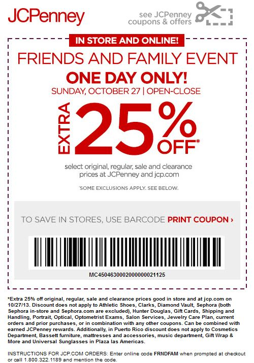 ef7ff8e934fc1 Pinned October 27th  Extra 25% off today at  JCPenney