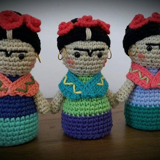 Frida Kahlo patrón crochet/ganchillo por EnamorArteCreaciones