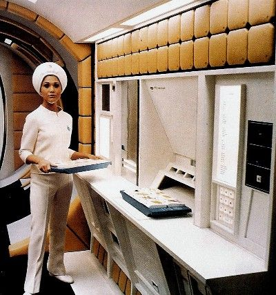 """The galley of the Aries moon shuttle in """"2001: A Space Odyssey"""" (1968)"""