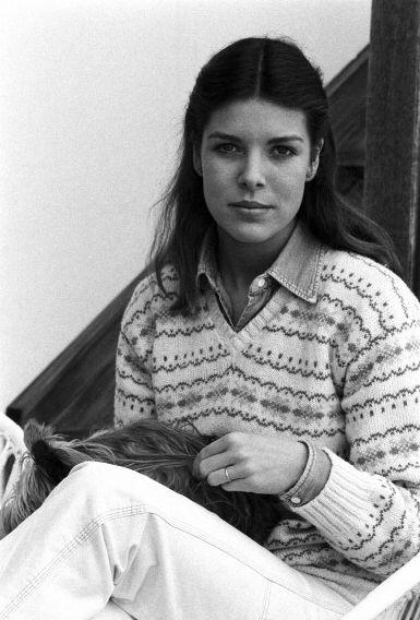 Princess Caroline of Monaco.Gstaad, Switzerland. February,1979.