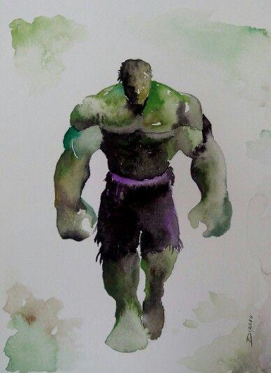 Hulk Watercolor