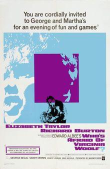 Original movie poster for the film Whos Afraid of Virginia Woolf?.jpg