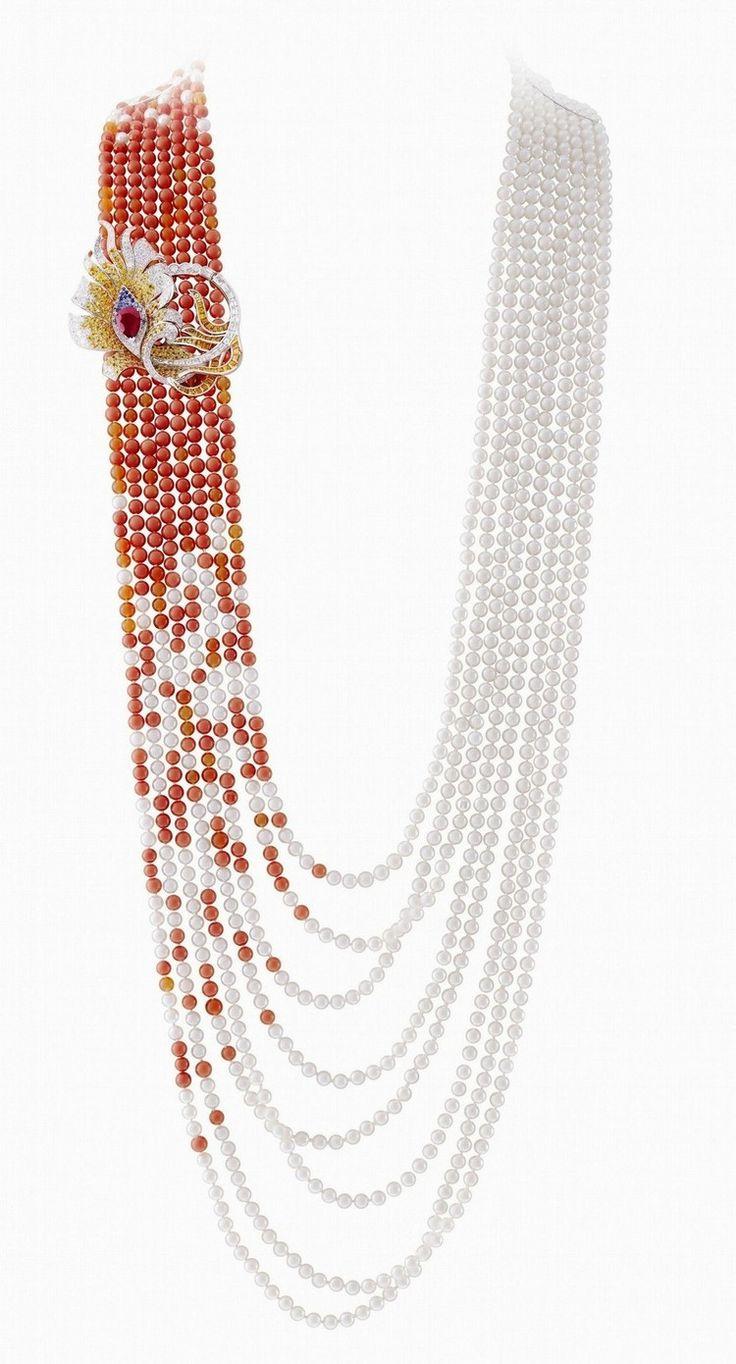 Mexican Fire Opals Pearls. Palais de la Chance, Van Cleef & Arpels