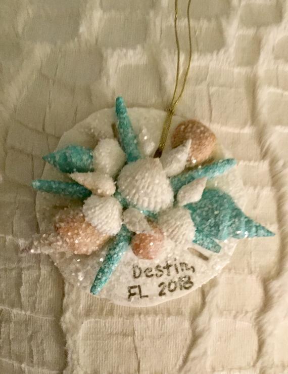 Christmas In Destin Florida 2020 Destin Florida Seashell Christmas Ornament Coastal and Beach