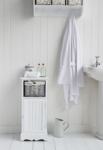 Awesome White Wood Free Standing Bathroom Storage Cabinet Unit