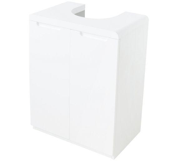 Buy Hygena Curve Under Sink Storage Unit - White at Argos.co.uk, visit Argos.co.uk to shop online for Bathroom shelves and storage units, Bathroom furniture, Home and garden