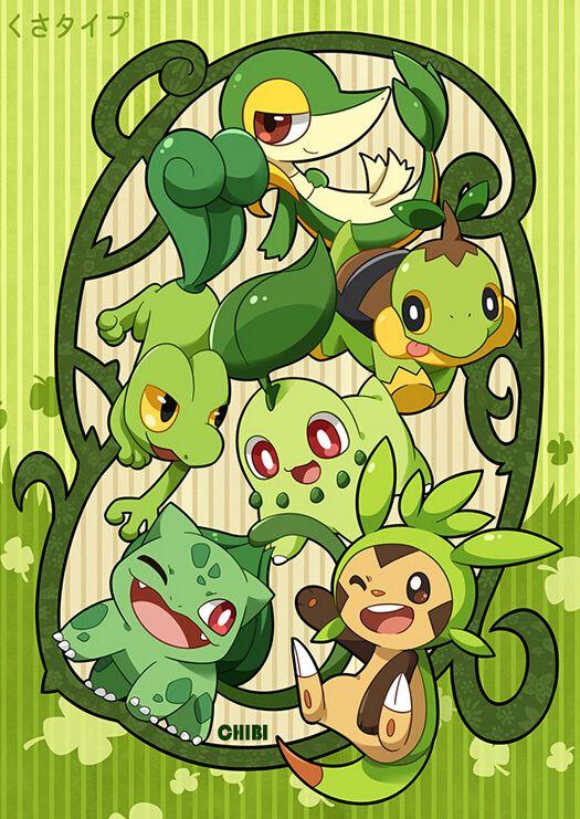 Starter Pokémon: http://www.pixiv.net/member_illust.php?mode=medium&illust_id=56816544