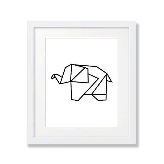 Elefant Art Print, geometrische Kunst, Origami, schwarze Kindergarten Kunst, Tierkindergarten, bedruckbar, Wandkunst, herunterladbaren Poster Elefant Kunst  Dieses Angebot gilt für sofortige DIGITAL-Dateien: -3 Jpg-Dateien enthalten: hohe Auflösung (300 dpi)-5 x 7, 8 x 10 und 11 x 14 digitale Downloads -Sofort nach dem Kauf erhalten Sie einen Link zum Herunterladen der Drucke -Drucken Sie sich zu Hause, oder schicken Sie Ihre lokalen Druck oder Foto-Shop für beste Ergebnisse -Frame…