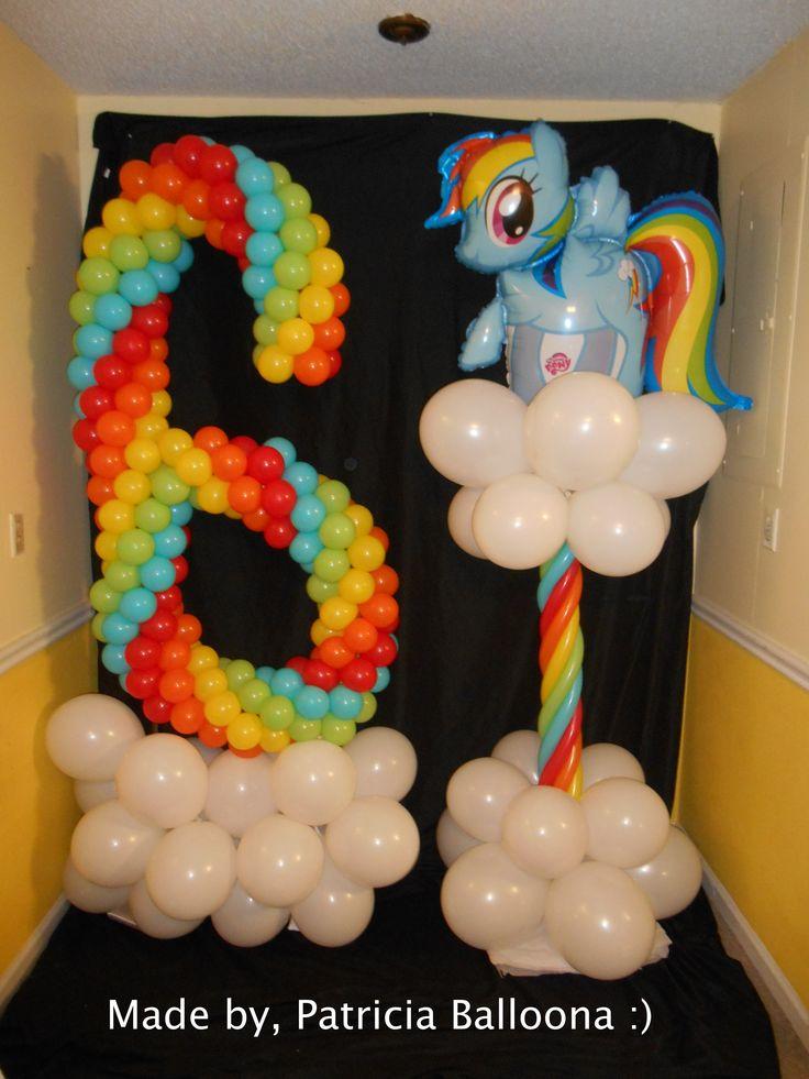 Balloon Rainbow 6 and Balloon Rainbow Dash Column made by Patricia Balloona, http://patriciaballoona.wordpress.com/2014/06/02/357th-and-358th-balloon-sculptures-rainbow-6-and-rainbow-dash-columns/