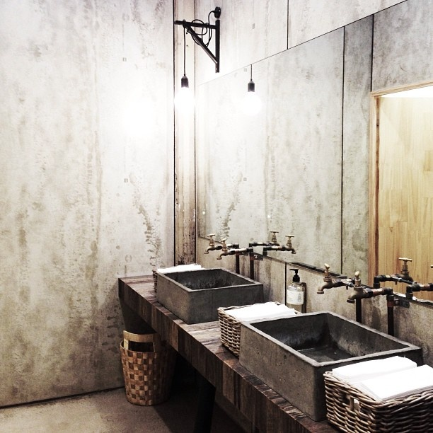 Concrete Heaven bathroom style