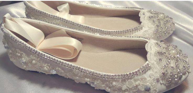 "Ivory White Shoe Flat Wedding Bridal Slipper Ballet Leatherette ""CELTIC"" - Design SWAROVSKI Crystal Pearl Ballerina COMFORTABLE Now On Sale! by BridalCottageLegacy on Etsy https://www.etsy.com/listing/266697958/ivory-white-shoe-flat-wedding-bridal"