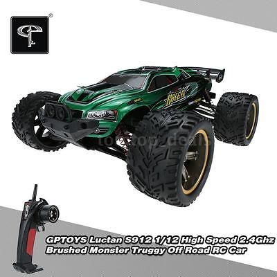 ﹩41.37. Original GPTOYS Luctan S912 Monster Truck 1/12 RWD High Speed Off-Road RC Car US    Required Assembly - Ready to Go/RTR/RTF (All included), Type - Brushed Electronic Powered 2WD Monster Truggy Off Road RC Car, Year - 2016, UPC - 708311806044