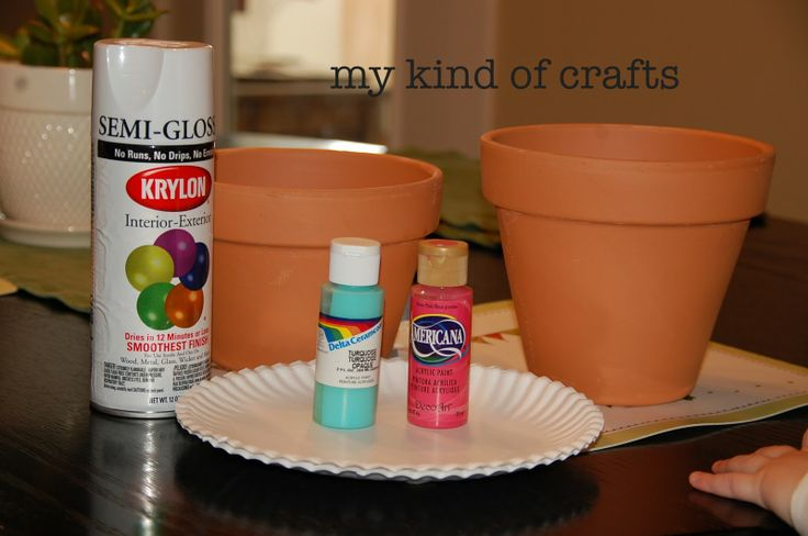 Painted Pot Ideas   My Kind of Crafts: Painting Flower Pots